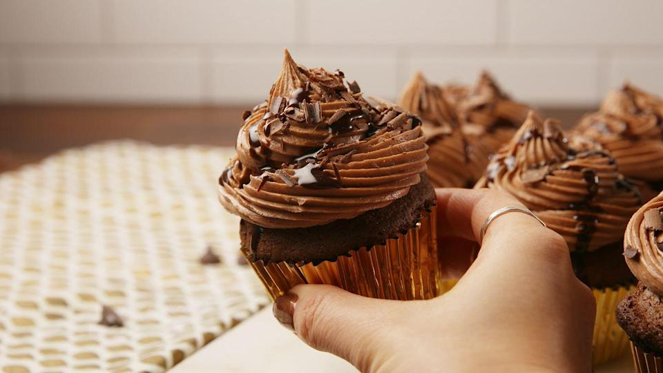 """<p>At least some of the cupcakes should be boozy.</p><p>Get the recipe from <a href=""""https://www.delish.com/cooking/recipe-ideas/recipes/a57253/baileys-cupcakes-recipe/"""" rel=""""nofollow noopener"""" target=""""_blank"""" data-ylk=""""slk:Delish"""" class=""""link rapid-noclick-resp"""">Delish</a>. </p>"""