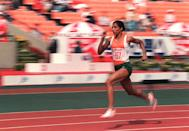 A name synonymous with Indian athletics, Usha won silver medals in the 100 m and the 200 m events in the 1982 New Delhi Asiad, gold in the 400 m (with a new Asian record) in the Asian Track and Field Championship in Kuwait and became the first Indian women to enter the final of an Olympics event at the 1984 Los Angeles Olympics.