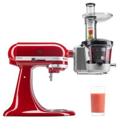 "<p><strong>KitchenAid</strong></p><p>bedbathandbeyond.com</p><p><strong>$179.99</strong></p><p><a href=""https://go.redirectingat.com?id=74968X1596630&url=https%3A%2F%2Fwww.bedbathandbeyond.com%2Fstore%2Fproduct%2Fkitchenaid-reg-juicer-and-sauce-attachment%2F1042903475&sref=https%3A%2F%2Fwww.goodhousekeeping.com%2Fcooking-tools%2Fg34431819%2Fbest-kitchenaid-attachments%2F"" rel=""nofollow noopener"" target=""_blank"" data-ylk=""slk:Shop Now"" class=""link rapid-noclick-resp"">Shop Now</a></p><p>Juicing is a messy business, but if you've been wanting to drink freshly minted green juice in the morning, this can certainly do the trick. While it's billed as a solution to create sauces and jams, our tests found that it's best to keep the tasks assigned to this attachment as simple as possible. The pulp screens included with the gadget make sure your fruit or vegetable juice is just the way you want it. </p>"