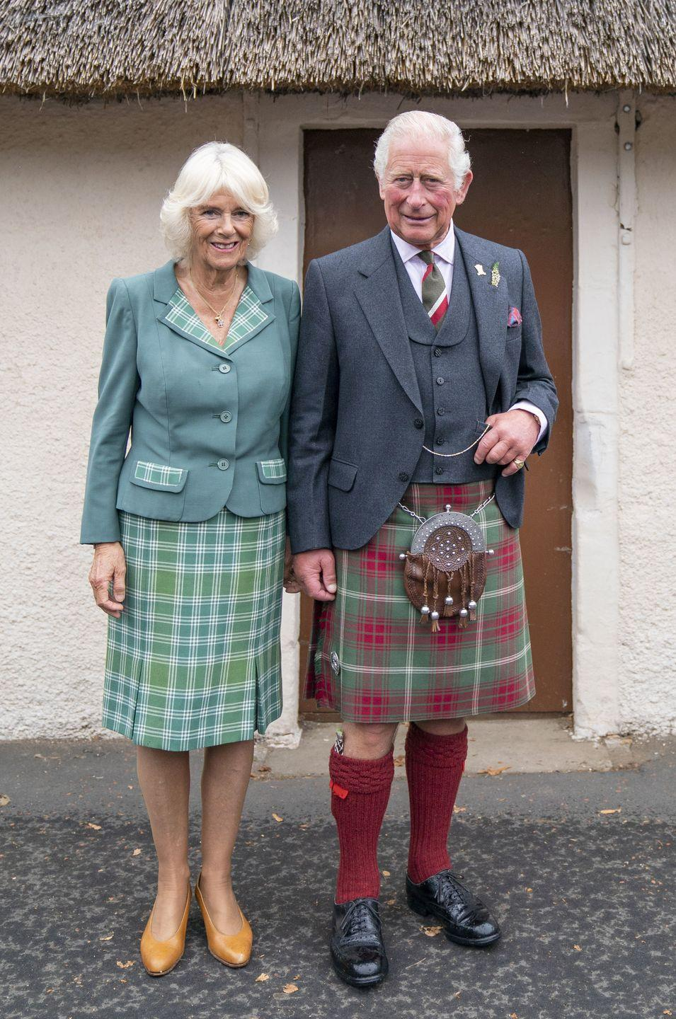 <p>You know what they say—couples that sport plaid together stay together. Prince Charles and Camilla, Duchess of Cornwall each opted for patterned ensembles for a recent outing in Scotland. </p>