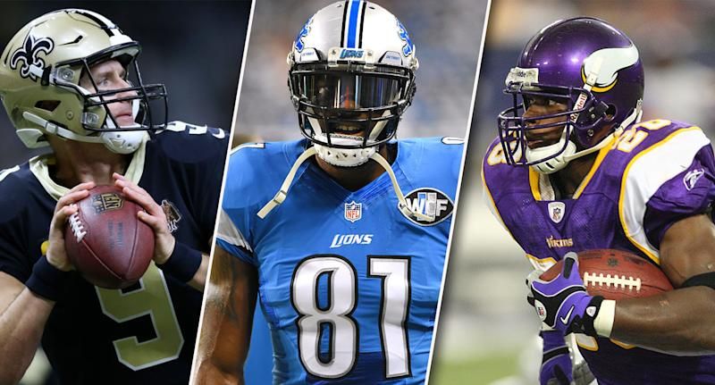 Drew Brees Calvin Johnson Adrian Peterson