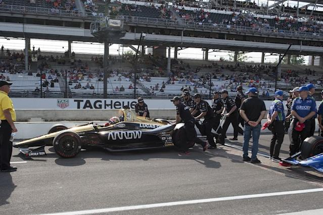 "Schmidt Peterson Motorsports driver James Hinchcliffe says it is ""devastating in every way possible"" to be bumped out of the 2018 Indianapolis 500"
