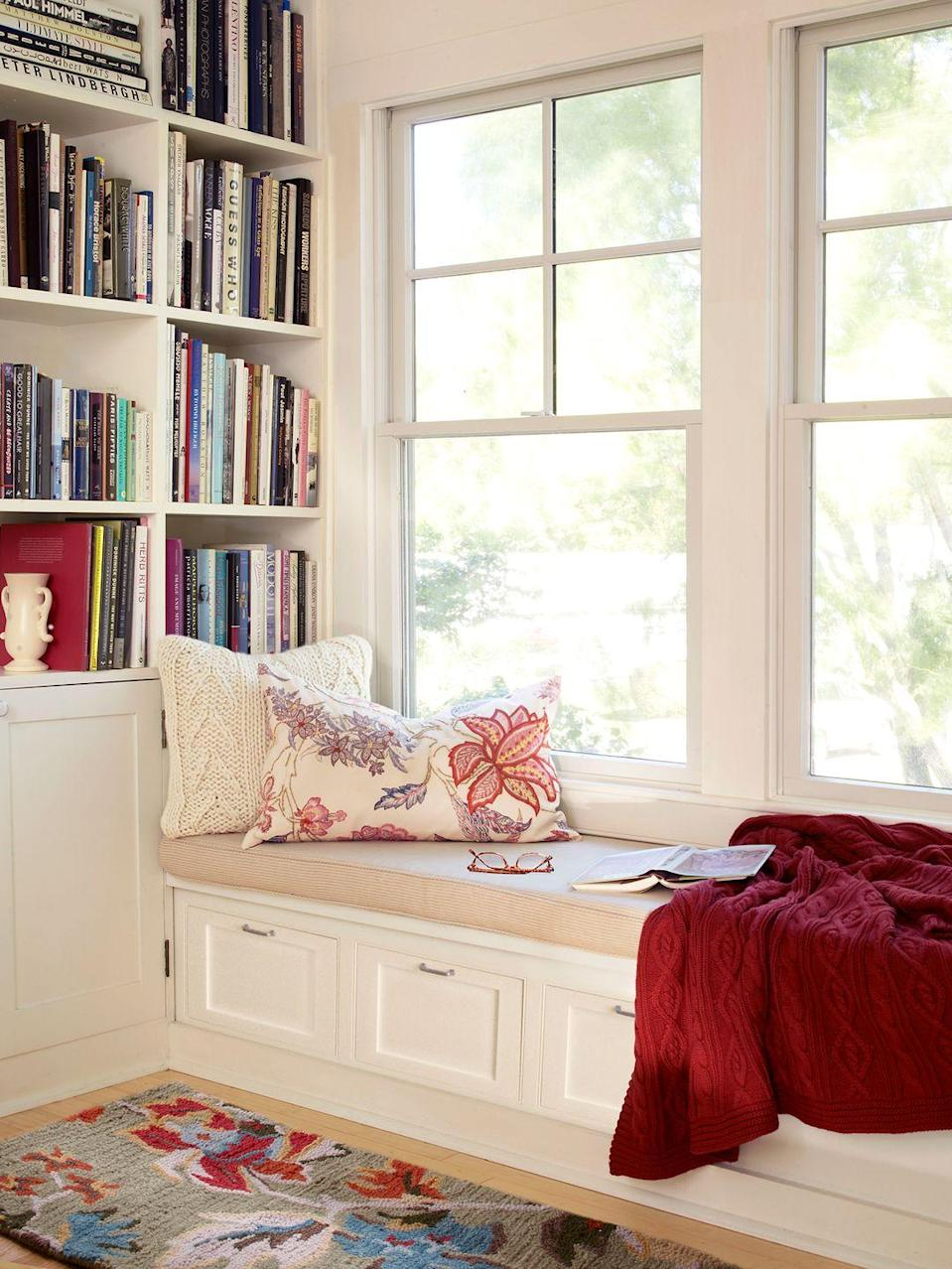 <p>You can't go wrong with a window seat coupled with built-in bookshelves. </p>