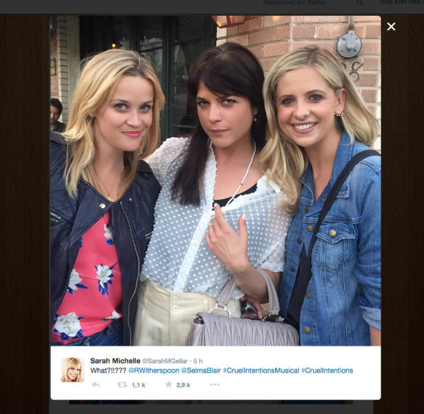 Sarah Michelle What?!!??? @RWitherspoon @SelmaBlair #CruelIntentionsMusical #CruelIntentions