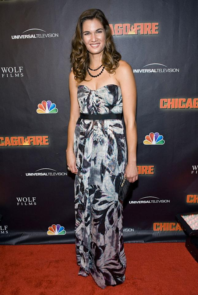 """Teri Reeves attends NBC's """"Chicago Fire"""" premiere at the Chicago History Museum on October 2, 2012 in Chicago, Illinois."""