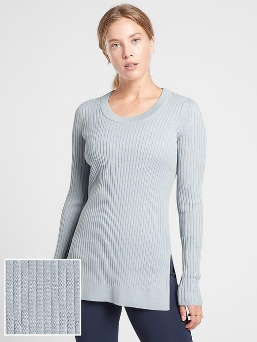 <p>Pop this ribbed <span>Athleta Lincoln Park Sweater</span> ($74-$98, originally $98) on top of whatever you were wearing and you're instantly Zoom-meeting ready.</p>