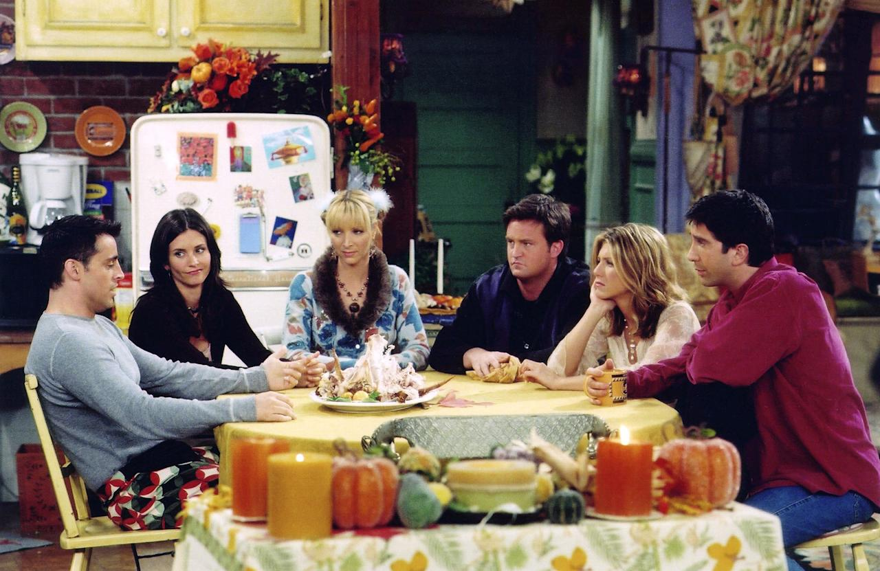 """It has been over two decades since one of TV's most memorable group of friends got together for coffee. The hit sitcom, <i>Friends</i>, started <a href=""""https://people.com/tv/people-celebrates-friends-25th-anniversary-in-new-special-edition/"""">a worldwide fandom when it first aired in 1994</a> — and since then, it's never left our televisions <i>or</i> our hearts. PIVOT forward to 2019, and <i>Friends</i> is now celebrating its 25th anniversary!  In honor of this milestone, we scoured the Internet in search of all the fun memorabilia you can buy to pay homage to your favorite <i>Friends </i>characters. From <a href=""""http://pottery-barn.7eer.net/c/249354/267848/4332?subId1=PEO%2CShopping%3APSA%3AYouCanBuytheExactPosterHanginginMonicaGeller%27sLivingRoom%E2%80%94Plus%2C17More%27Friends%27-InspiredFinds%2Calexwarnermeredith%2CUnc%2CGal%2C7289355%2C201909%2CI&u=https%3A%2F%2Fwww.potterybarn.com%2Fproducts%2Ffriends-apothecary-coffee-table"""" target=""""_blank"""" rel=""""nofollow"""">Rachel and Phoebe's apothecary table</a>(from, you guessed it, Pottery Barn) to <a href=""""https://www.amazon.com/FRIENDS-Peephole-Replica-FRIENDS-Handmade/dp/B01NATQNKT/ref=as_li_ss_tl?ie=UTF8&linkCode=ll1&tag=polifefriendstvshowfindsawarner0919-20&linkId=55ec74dbb043990469aff1a366287384&language=en_US"""">Monica's iconic yellow picture frame</a>, shop 18 <i>Friends</i> TV show finds that would make amazing gifts for a superfan. Could we BEEE anymore excited?"""