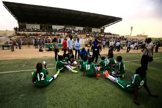 The launch of women's club football is seen as a much-needed boost for women's rights in Sudan (AFP Photo/Ashraf SHAZLY)