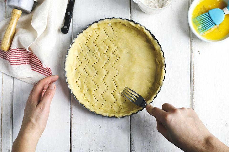 "<p>Many will agree that homemade pie crust can be a time-consuming, difficult task. And more often than not, people can't tell the difference between a store-bought versus homemade crust.</p><p>Jessica Randhawa, head chef, recipe creator, photographer, and writer behind <a href=""https://theforkedspoon.com/"" rel=""nofollow noopener"" target=""_blank"" data-ylk=""slk:The Forked Spoon"" class=""link rapid-noclick-resp"">The Forked Spoon</a>, tells Woman's Day that while making your own pie crust can be rewarding, it's not always worth the time. ""The outcome can vary dramatically depending on many factors, including ingredients, type of butter used, equipment used (i.e., food processor or not), chill time, etc,"" she says. ""Knowing this, when I am short on time, which does happen often, I will buy a tasty pie crust from a store (Trader Joes is my personal favorite), knowing its a good quality and relatively delicious product."" </p>"