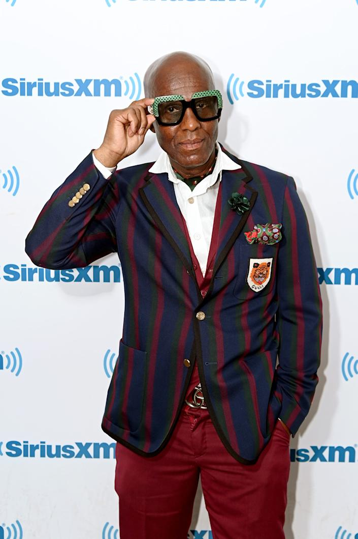 Fashion designer Dapper Dan visits SiriusXM Studios on July 15, 2019, in New York City.