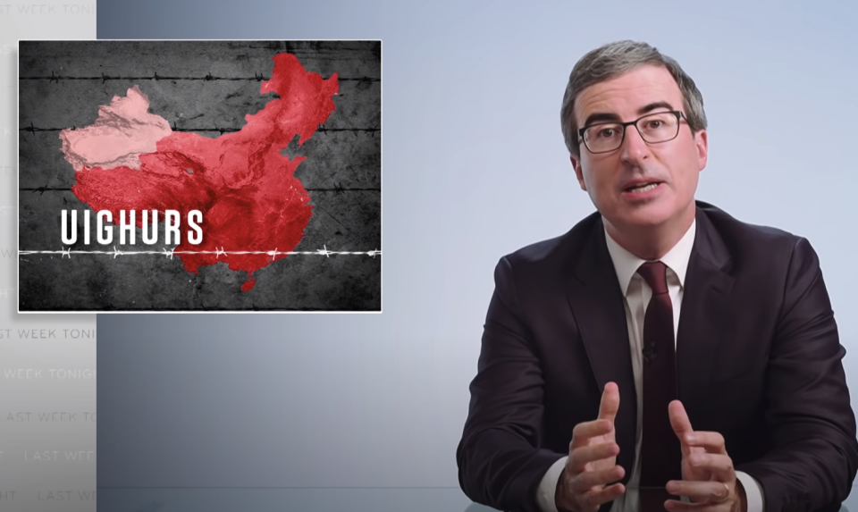 John Oliver used his latest HBO show to detail the plight of the Chinese Uyghurs.