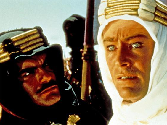 Peter O'Toole with Omar Sharif in 'Lawrence of Arabia' (Rex)