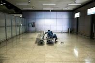Empty: The arrivals gate Dakar's Blaise Diagne International Airport. Travel bans and a nightly curfew have had a huge economic impact in Senegal