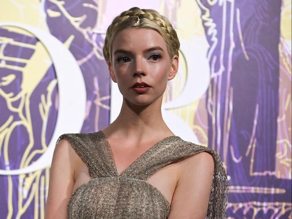 Anya Taylor-Joy at a Dior fashion show in Athens, Greece, on 17 June 2021 (ARIS MESSINIS/AFP via Getty Images)