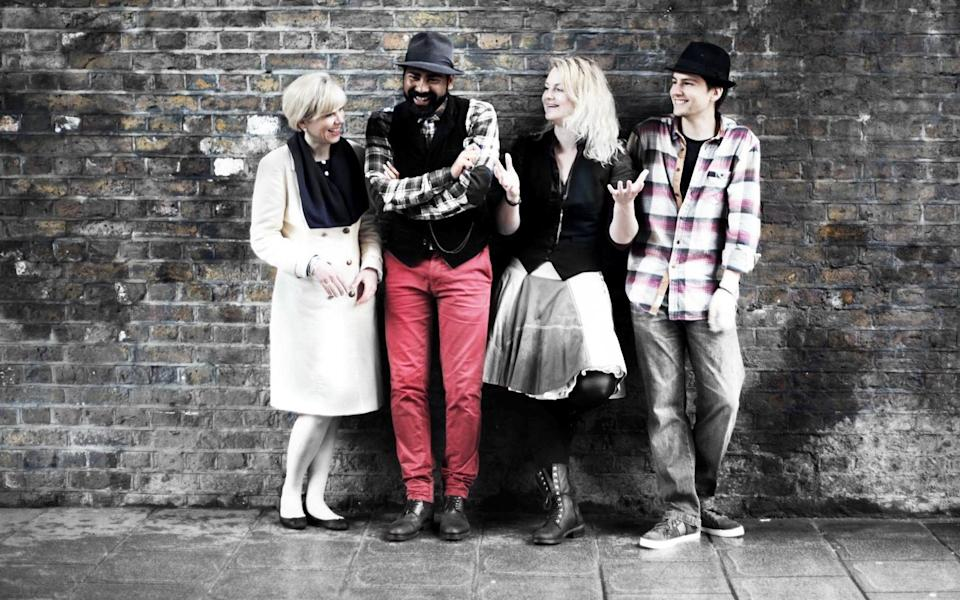Stéphanie Kuypers (second from right), a tour guide with Women of London and Tour for Muggles