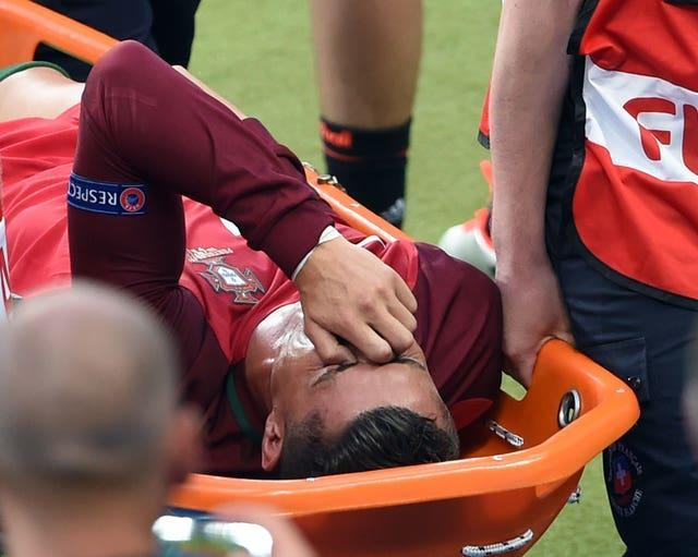 Ronaldo was forced off by injury in the final against France