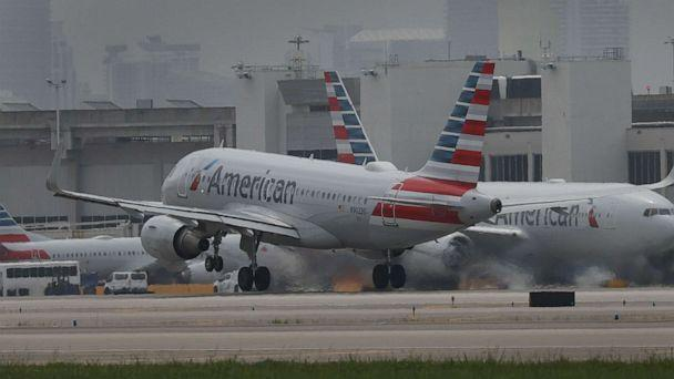PHOTO: An American Airlines plane takes off at the Miami International Airport on June 16, 2021 in Miami. (Joe Raedle/Getty Images)