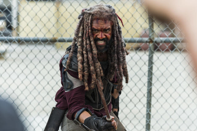 <p>Khary Payton as Ezekiel in AMC's <i>The Walking Dead.><br> (Photo: Gene Page/AMC)</i> </p>