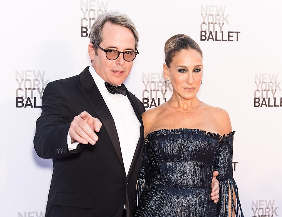 NEW YORK, NY - SEPTEMBER 28:  Actor Matthew Broderick and wife actress/ NYCB Board Vice Chair, Sarah Jessica Parker attends the New York City Ballet's 2017 Fall Fashion Gala at David H. Koch Theater at Lincoln Center on September 28, 2017 in New York City.  (Photo by Gilbert Carrasquillo/FilmMagic)