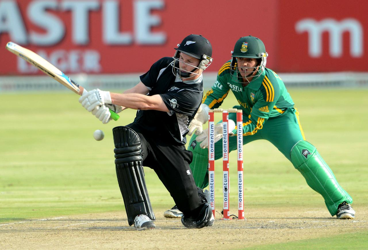 POTCHEFSTROOM, SOUTH AFRICA - JANUARY 25:  Colin Munro of New Zealand bats during the 3rd One Day International match between South Africa and New Zealand at Senwes Park on January 25, 2013 in Potchefstroom, South Africa.  (Photo by Lee Warren/Gallo Images/Getty Images)