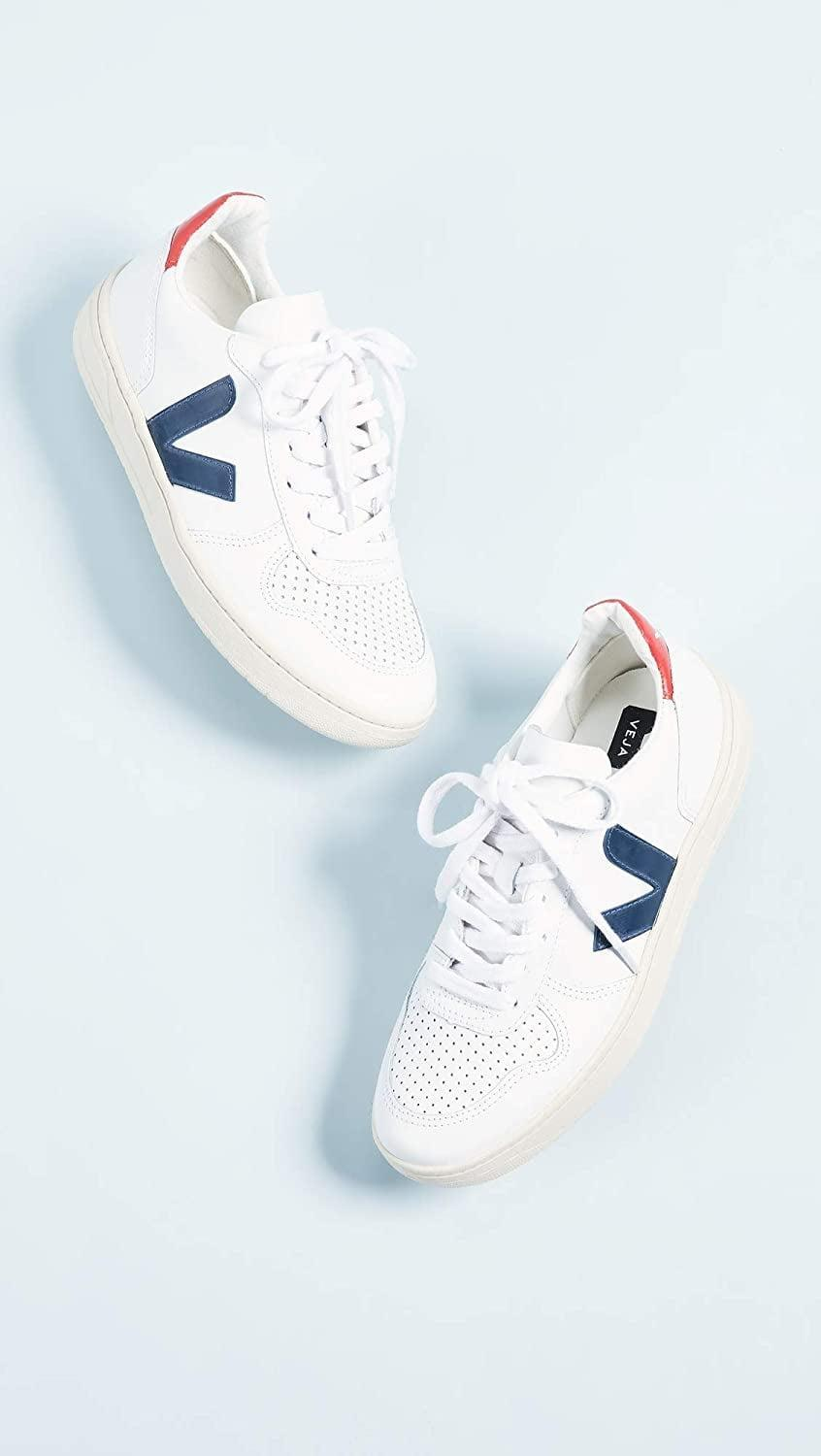 <p>Our editors have always loved these <span>Veja V-10 Sneakers</span> ($150).</p>