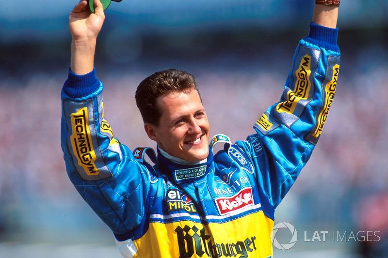 "Michael Schumacher (1994, 1995, 2000, 2001, 2002, 2003 e 2004)<span class=""copyright"">Sutton Motorsport Images</span>"