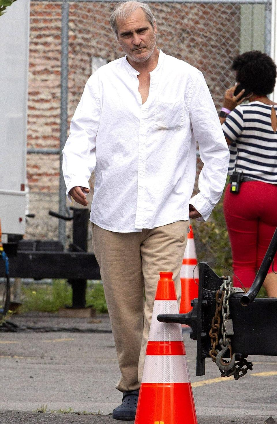 Joaquin Phoenix is Spotted in Montreal on the Set of Disappointment Blvd
