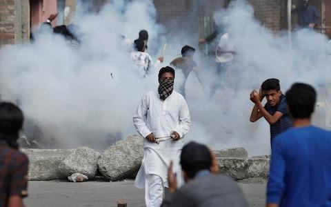 Scattered clashes have broken out between Kashmiri protesters and the Indian security forces since August 5 - Credit: Adnan Abidi/Reuters