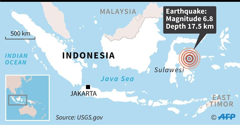 8 quake  strikes off of Indonesia, sparking brief tsunami warning