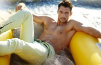 <p>You may recognize this hunk from the Dolce and Gabbana commercials, where he lip-locks with a model in a speedo.</p>