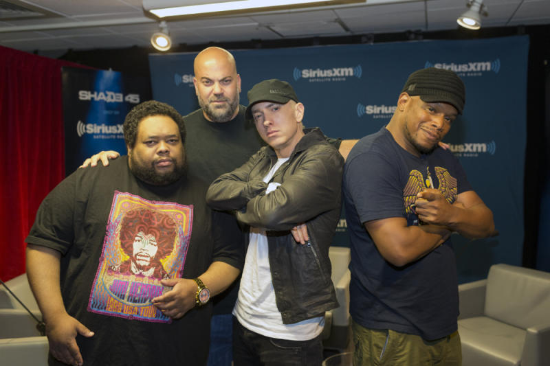 Eminem at the Sirius XM studio.
