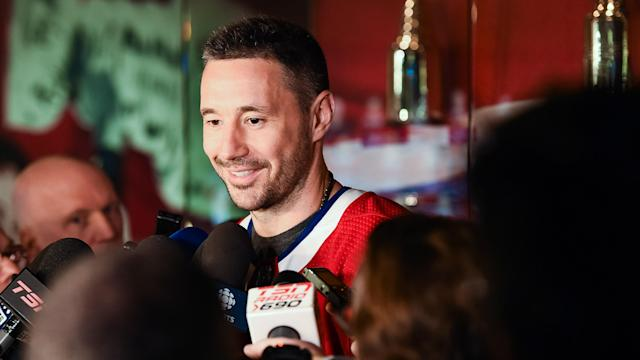 Ilya Kovalchuk, the Montreal Canadiens new winger, showed off his ability to speak a bit of French during his first media availability. (Photo by David Kirouac/Icon Sportswire)
