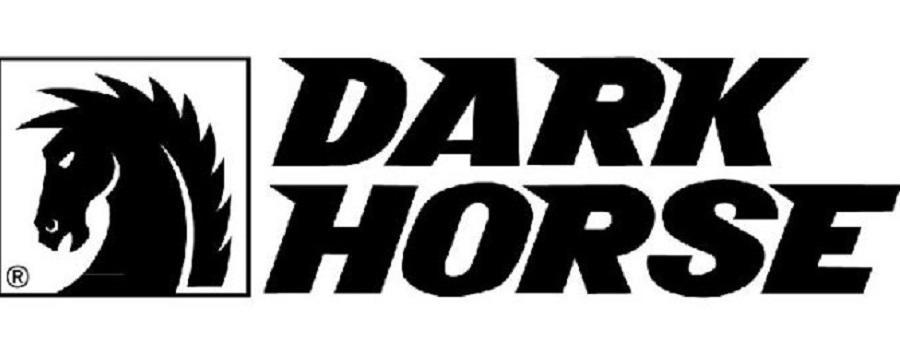 The logo for comics publisher Dark Horse, launched in 1986.