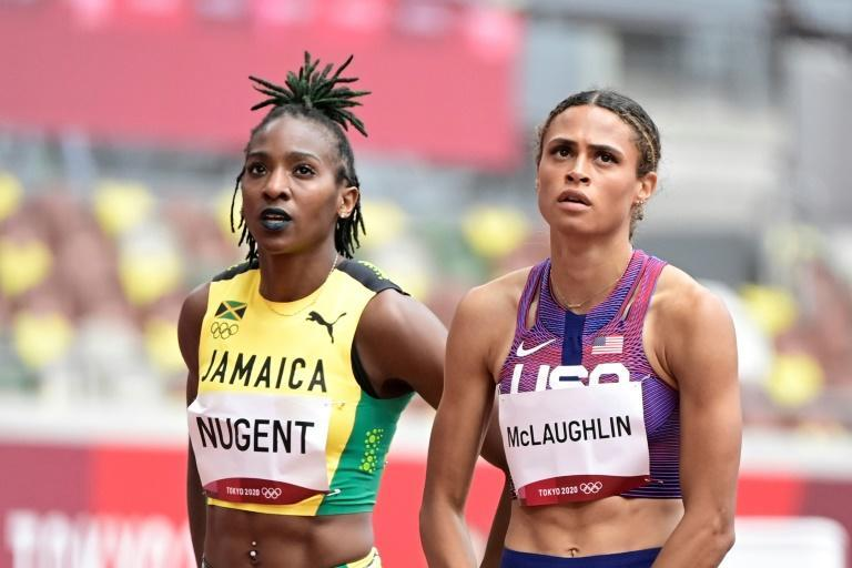 Sydney Mclaughlin and her predecessor as women's 400 metres hurdles world record holder Dalilah Muhammad sparkled on the track but off it Nigerian sprinter and 2008 long jump silver medalist Blessing Okagbare failed a dope test