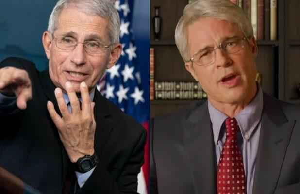Dr. Fauci Gives Thumbs Up to 'Classy' Brad Pitt's 'SNL' Impersonation: 'He Did Great' (Video)