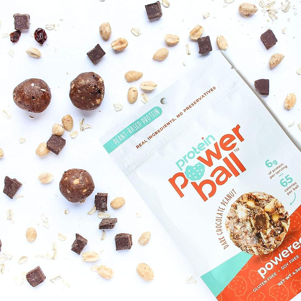 <p>Treat yourself after a good workout with these yummy <span>Protein Power Ball in Dark Chocolate Peanut, 2 Pack</span> ($15). It's a great high-protein energy bite, perfect for on-the-go. It's gluten-free, dairy-free and soy-free.</p>