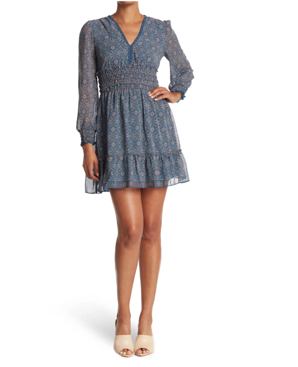 """<h2>Max Studio V-Neck Smocked Dress</h2><br>This fun, floral-y mini frock is the ideal length for the remaining hazy days of summer. And thanks to its long sleeves, it can just as effortlessly be transitioned into your fall wardrobe — making this the perfect mid-August purchase (especially for under $50). <br><br><strong>The Hype:</strong> 4.2 out of 5 stars; 30 reviews on NordstromRack.com<br><strong><br>What They're Saying:</strong> """"The Perfect Summer Dress :) That's the only way I can put it: perfect for a summer afternoons."""" — Chiky, NordstromRack.com reviewer<br><br><strong>Max Studio</strong> V-Neck Smocked Dress, $, available at <a href=""""https://go.skimresources.com/?id=30283X879131&url=https%3A%2F%2Fwww.nordstromrack.com%2Fs%2Fmax-studio-v-neck-smocked-dress%2F6052936"""" rel=""""nofollow noopener"""" target=""""_blank"""" data-ylk=""""slk:Nordstrom Rack"""" class=""""link rapid-noclick-resp"""">Nordstrom Rack</a>"""