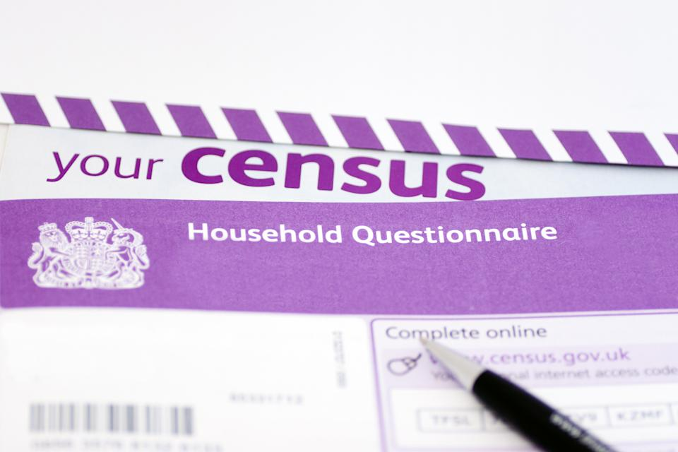 The census, a survey about all the households in England and Wales, includes questions such as who you live with, the type of property you live in and employment status. Photo: Getty Images
