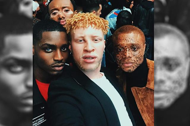 From left: Models Mekhi Lucky, Quis Crawford, Shaun Ross, and Ralph Souffrant. (Photo: Shaun Ross via Instagram)