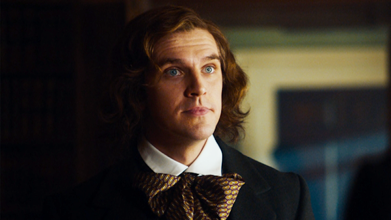 The Man Who Invented Christmas Poster.Dan Stevens Charles Dickens Encounters Real Life Scrooge In
