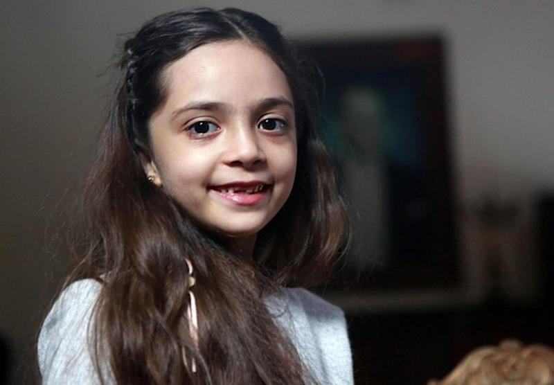 Syrian girl Bana al-Abed, known as Aleppo's tweeting girl, poses during an interview in Ankara, Turkey, on December 22, 2016: Getty
