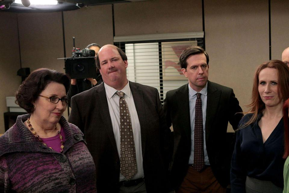 "<p>Fans of <em>The Office </em>will be pleased to discover that the on-screen chemistry between Andy (Ed Helms) Kevin (Brian Baumgartner) is 100 percent real; their rapport comes from their years of attending The Westminster Schools in Atlanta together. Helms has nothing but good things to say about his castmate and former classmate, posting on a <a href=""https://www.reddit.com/r/IAmA/comments/1n6z2h/ed_helms_completely_naked_ready_to_bare_it_all/ccfym1b/"" rel=""nofollow noopener"" target=""_blank"" data-ylk=""slk:Reddit"" class=""link rapid-noclick-resp"">Reddit</a> thread in 2014 that Baumgartner is ""a smart, hilarious, down-to-earth fella.""</p>"