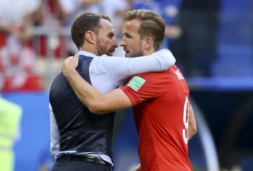 Job well done: Now England face Croatia on Wednesday in the semi-final