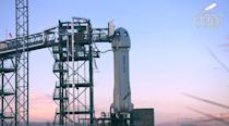 <p>Blue Origin's rocket is getting ready for flight. Lift-off is expected around 10:39 a.m. ET. </p>