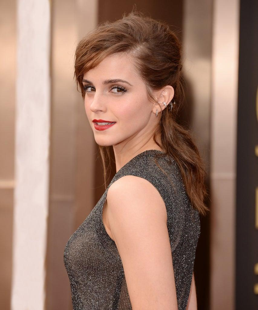 HOLLYWOOD, CA – MARCH 02: Actress Emma Watson attends the Oscars held at Hollywood & Highland Center on March 2, 2014 in Hollywood, California. (Photo by Jason Merritt/Getty Images)