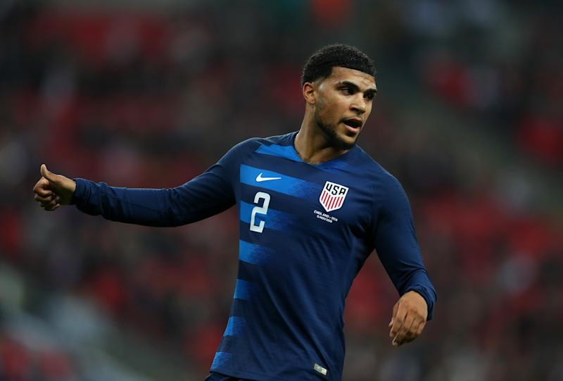 DeAndre Yedlin could make his second start of 2019 for the United States against Canada. (Catherine Ivill/Getty)
