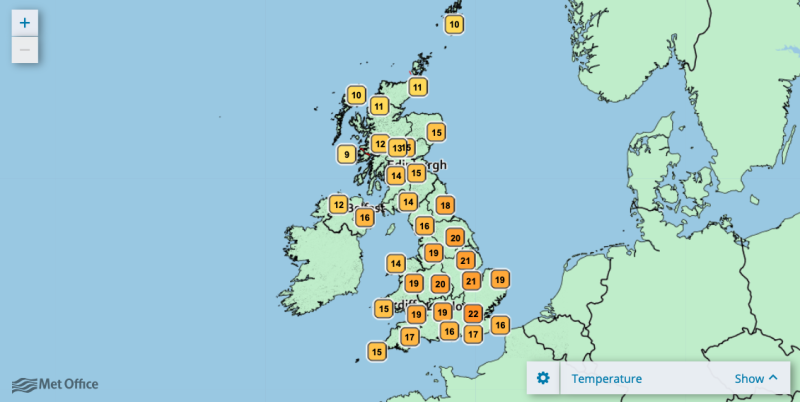 Temperatures are set to rise over the Easter weekend. (Met Office)