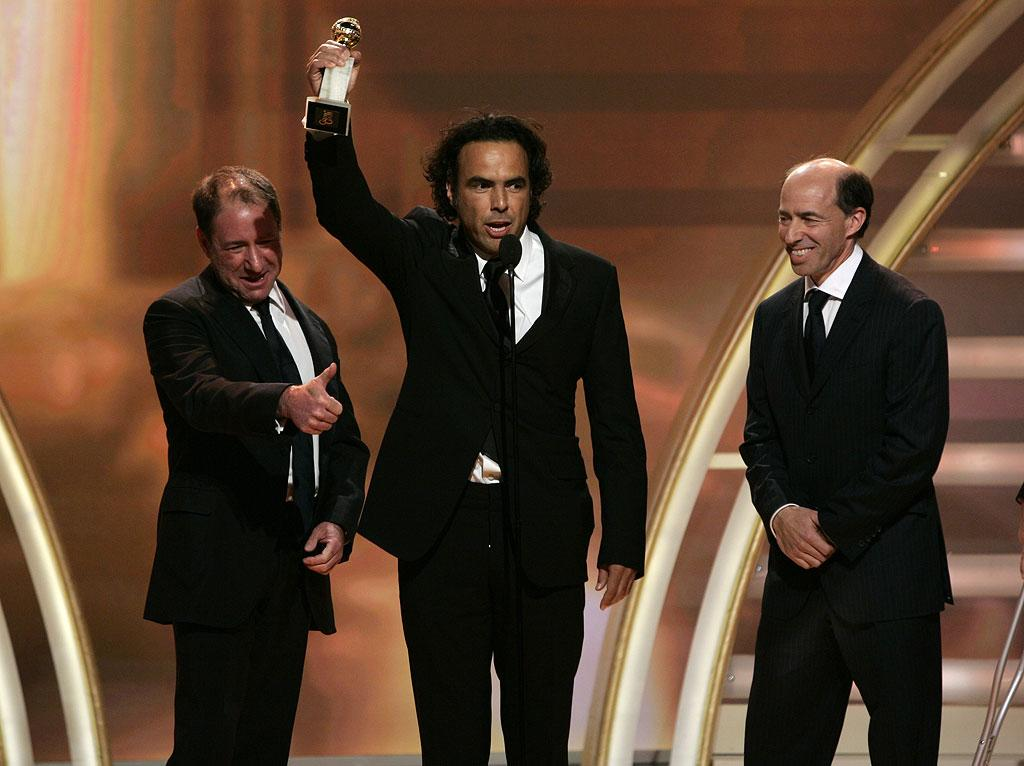 "Alejandro Gonzalez Inarritu wins for Best Motion Picture, ""Babel"" at <a href=""/the-64th-annual-golden-globe-awards/show/40075"">the 64th annual Golden Globe Awards</a>."