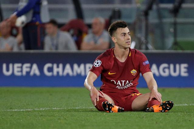 Soccer Football - Champions League Semi Final Second Leg - AS Roma v Liverpool - Stadio Olimpico, Rome, Italy - May 2, 2018 Roma's Stephan El Shaarawy reacts REUTERS/Max Rossi