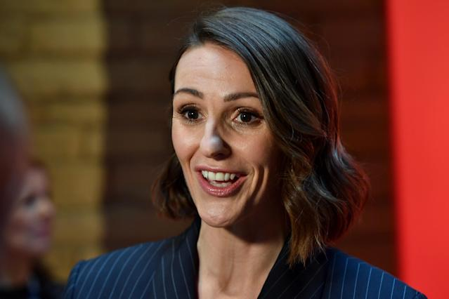 "Suranne Jones attends ""BBC One Drama Gentleman Jack"" Yorkshire Premiere at The Piece Hall on May 09, 2019 in Halifax, England. (Photo by Anthony Devlin/Getty Images)"